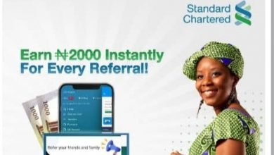 Photo of Get N2000 From Standard Chartered Referral Bonus SC Bank 2020