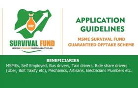 N75Bn MSME Survival Fund Registration Portal – https://survivalfund.ng.   The link to apply for the N75Bn MSME Survival Fund is https://survivalfund.ng.